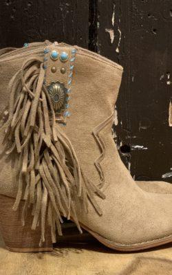 Bohemian boots franje zand