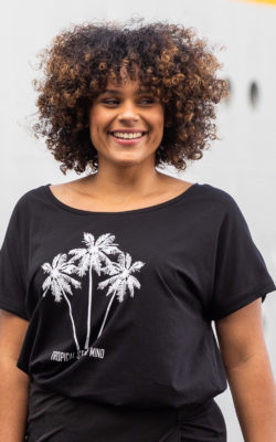 Exxcellent T-Shirt Zwart Tropical State of Mind