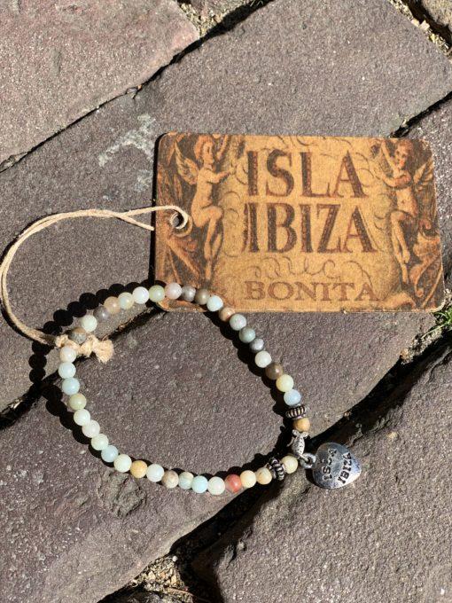 Isla Ibiza Bonita Armband Naturel Hartje