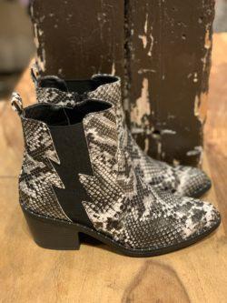 Boots Slangenprint Zwart-Wit