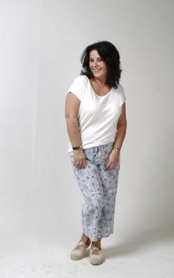 Isla Ibiza Bonita Trousers Floral Printed Blue Broek Blauw Print