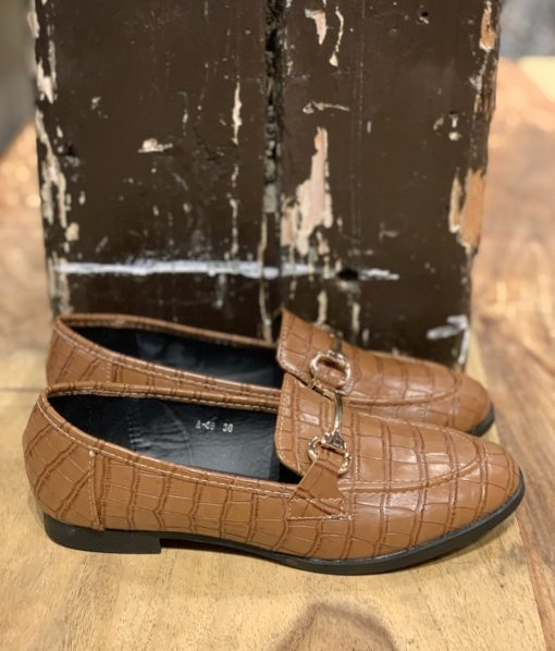 Loafers Croco Cognac