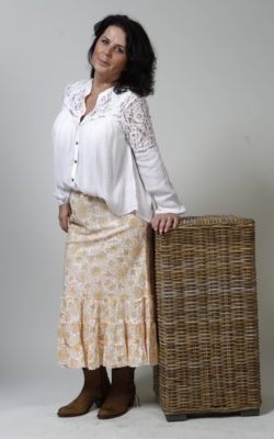 Isla Ibiza Bonita blouse lace White