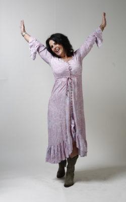 Isla Ibiza Bonita Bohemian Paisley Maxi Dress Lila