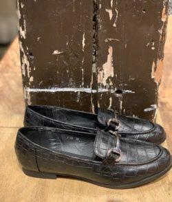 Loafers Croco Zwart
