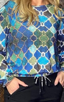 Maicazz Radella Blouse Oriental Blue