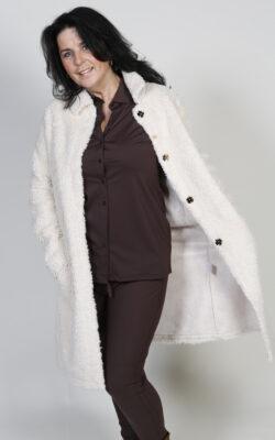 G-Maxx Jas Fake Fur Off-White